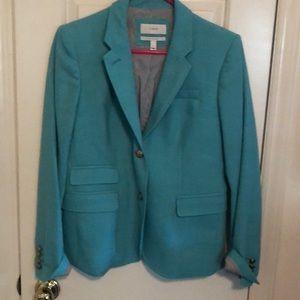 Turquoise J. Crew Schoolboy blazer size 6